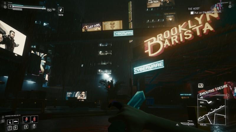 Ночь с дождем (с модом на нож deus ex)