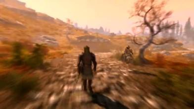 Пешая прогулка по карте TES: Skyrim
