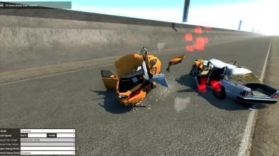 Ужасающие лобовые аварии с механиком - BeamNG.drive
