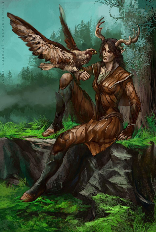 арты по скайриму с лесными эльфами так