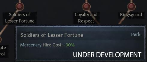 [Солдаты чуть меньшей удачи — Стоимость найма наёмников: -30%]