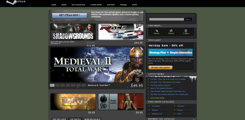 Мало кто помнит первую распродажу Steam