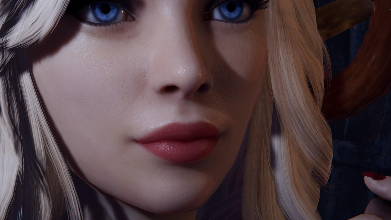 Демонстрация обновлённой текстуры кожи суккубов в She Will Punish Them