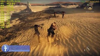 Nvidia GT 1030 тестирование в игре Mad Max