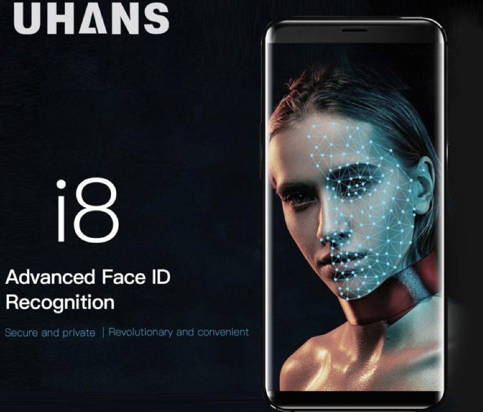 UHANS I8 сбезграничным экраном ираспознаванием лиц оценен в $129,99