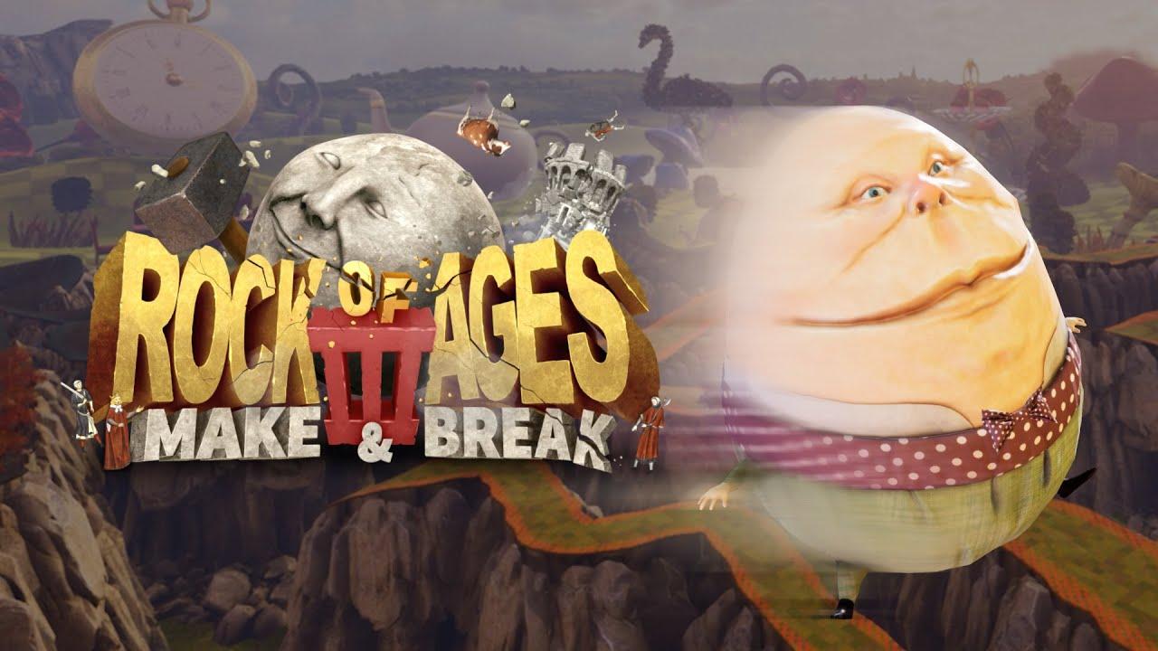 Знакомьтесь - Шалтай-Болтай! Rock of Ages 3: Make & Break обзавелась новым трейлером