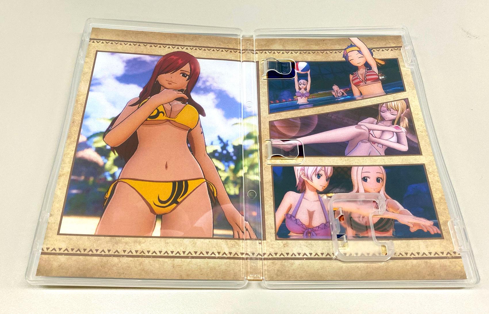 Люси, Эрза и другие героини в купальниках попали на официальную внутреннюю обложку игры 'Fairy Tail'
