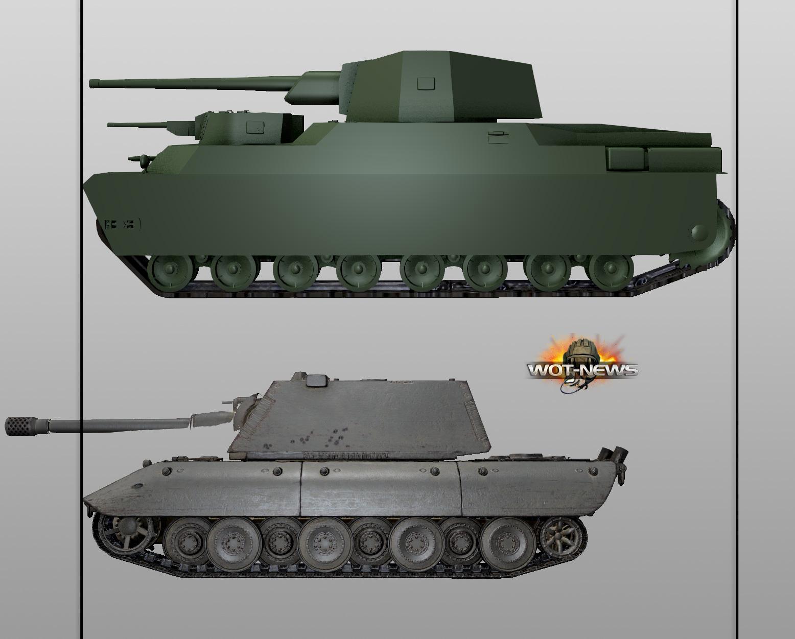 Картинка японского танка вид сбоку только