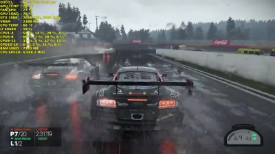 Project Cars Rain Race Ultra Settings 1440p - GTX 1080 FE - i7 5960X 4.5GHz