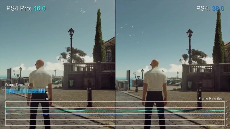 Hitman Сравнение PS4 Pro vs PS4 (DigitalFoundry)