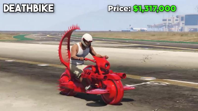 Grand Theft Auto 5: Кто быстрее? - Oppressor vs Hakuchou Drag vs Shotaro vs DeathBike