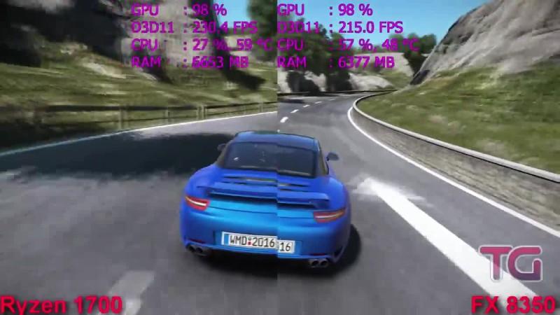 Тест Ryzen 7 1700 vs FX 8350 в 7 играх (GTX 1060)