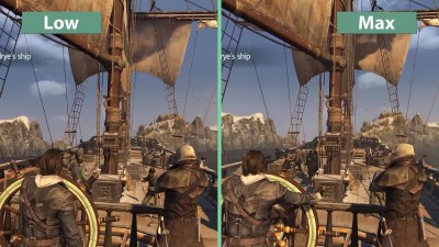 "Assassin's Creed Rogue ""PC Low vs. Max настройки графики"""