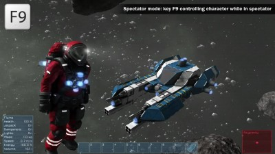 "Space Engineers ""Space suit color selection, large ship drills"""