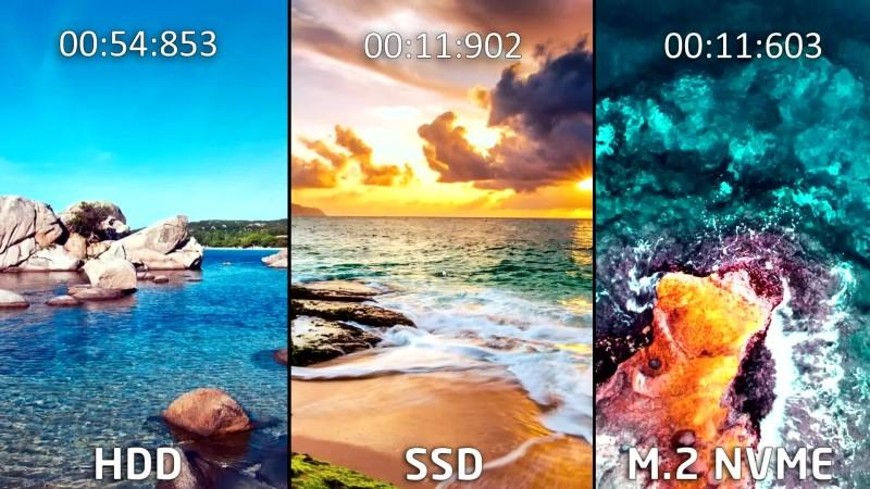 Загрузки игр и Windows - M.2 NVME vs SSD vs HDD