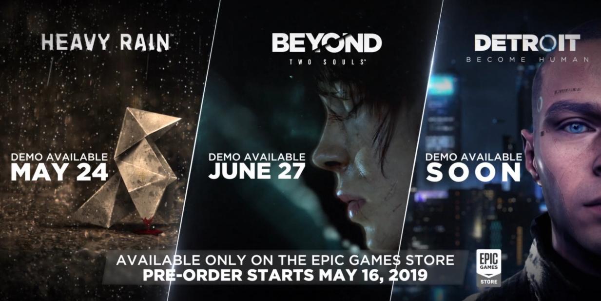 В Epic Games Store открылся предзаказ игр Quantic Dream + Стали известны даты выхода + Трейлер + Демо версии!
