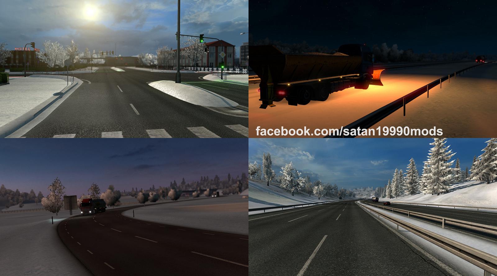 Скачать зимний мод euro truck simulator 2