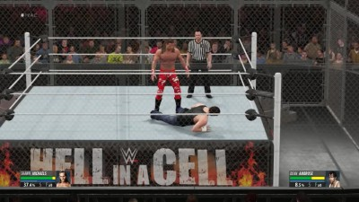 2K16 Hell in a Cell - WWE World Heavyweight Championship HBK Shawn Michaels VS Dean Ambrose