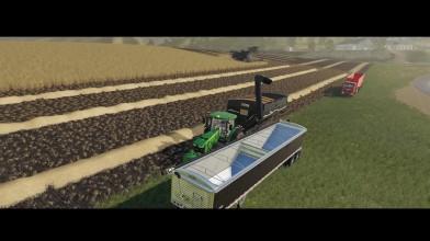 Farming Simulator 19 - Комбайн FENDT IDEAL 9T и трактор John Deere 8400R совместная уборка урожая.