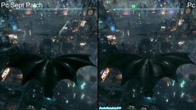 Batman Arkham Knight Сравнение Sept Patch Vs Pc First Release