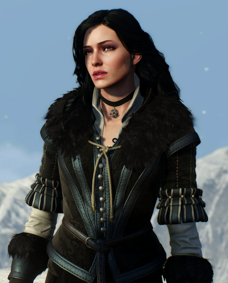 Так Йеннифэр выглядит в серии видео игр о Ведьмаке