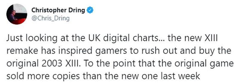 Ремейк XIII настолько плох, что игроки предпочитают покупать оригинал 2003 года