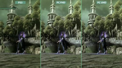 Bayonetta - PC 4K vs. PS3 vs. PC 1080p Graphics Сравнение