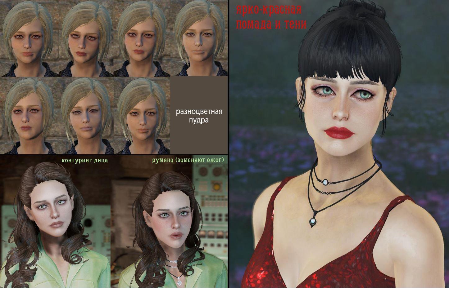 Описание лиц девушек