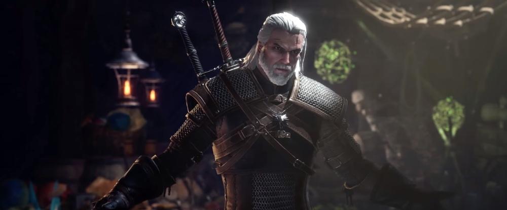 Сравнение Геральта из The Witcher 3 и Monster Hunter World