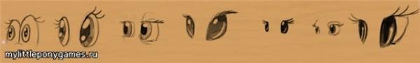 Стиль глаз для поней
