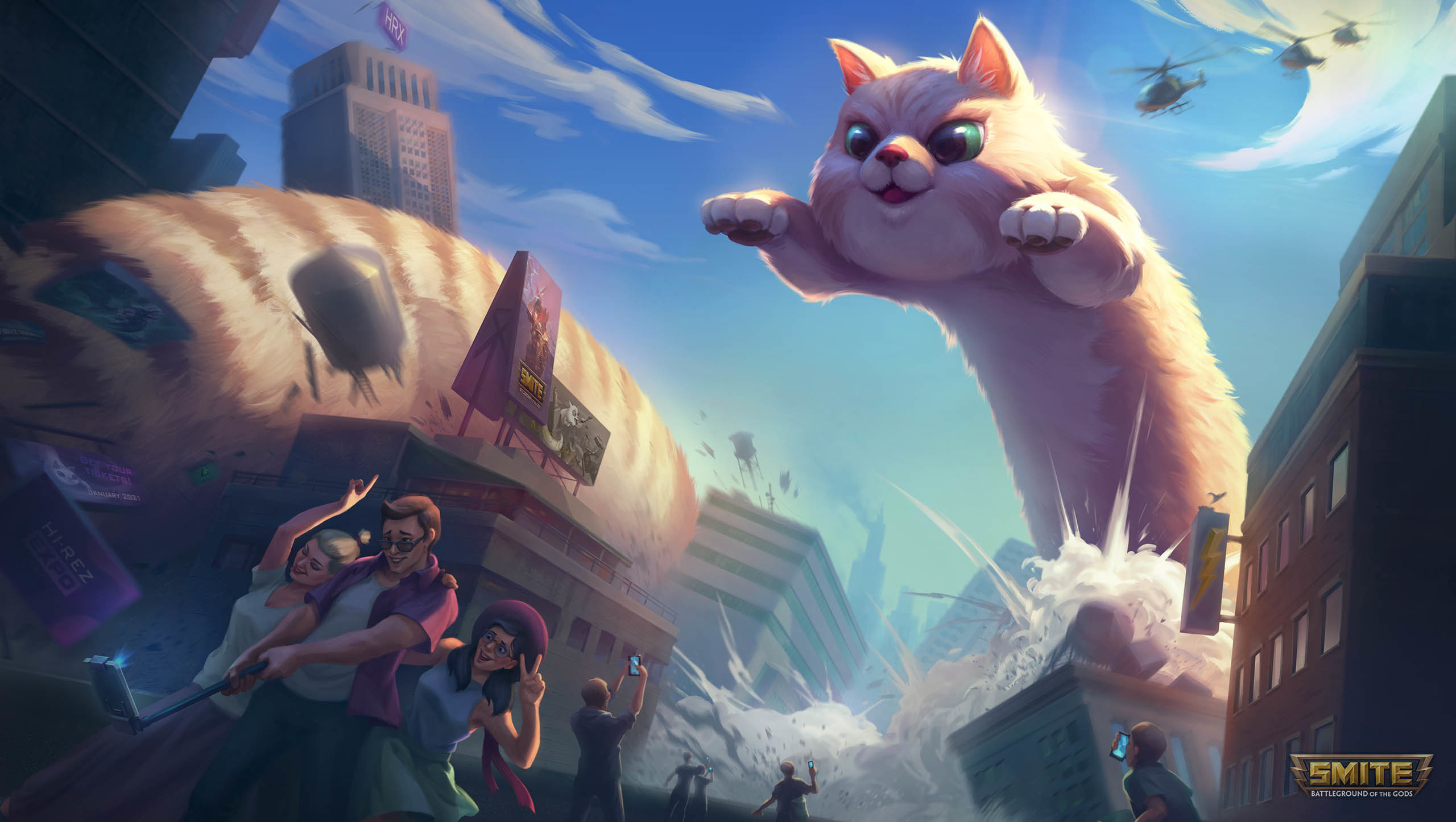 'Мировой Котик' в новом боевом пропуске Smite