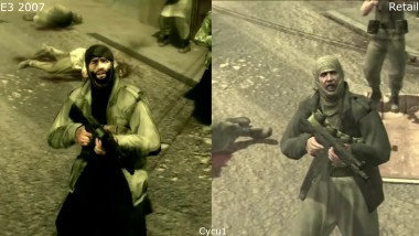Metal Gear Solid 4 E3 2007 Demo vs Retail PS3 Graphics Comparison