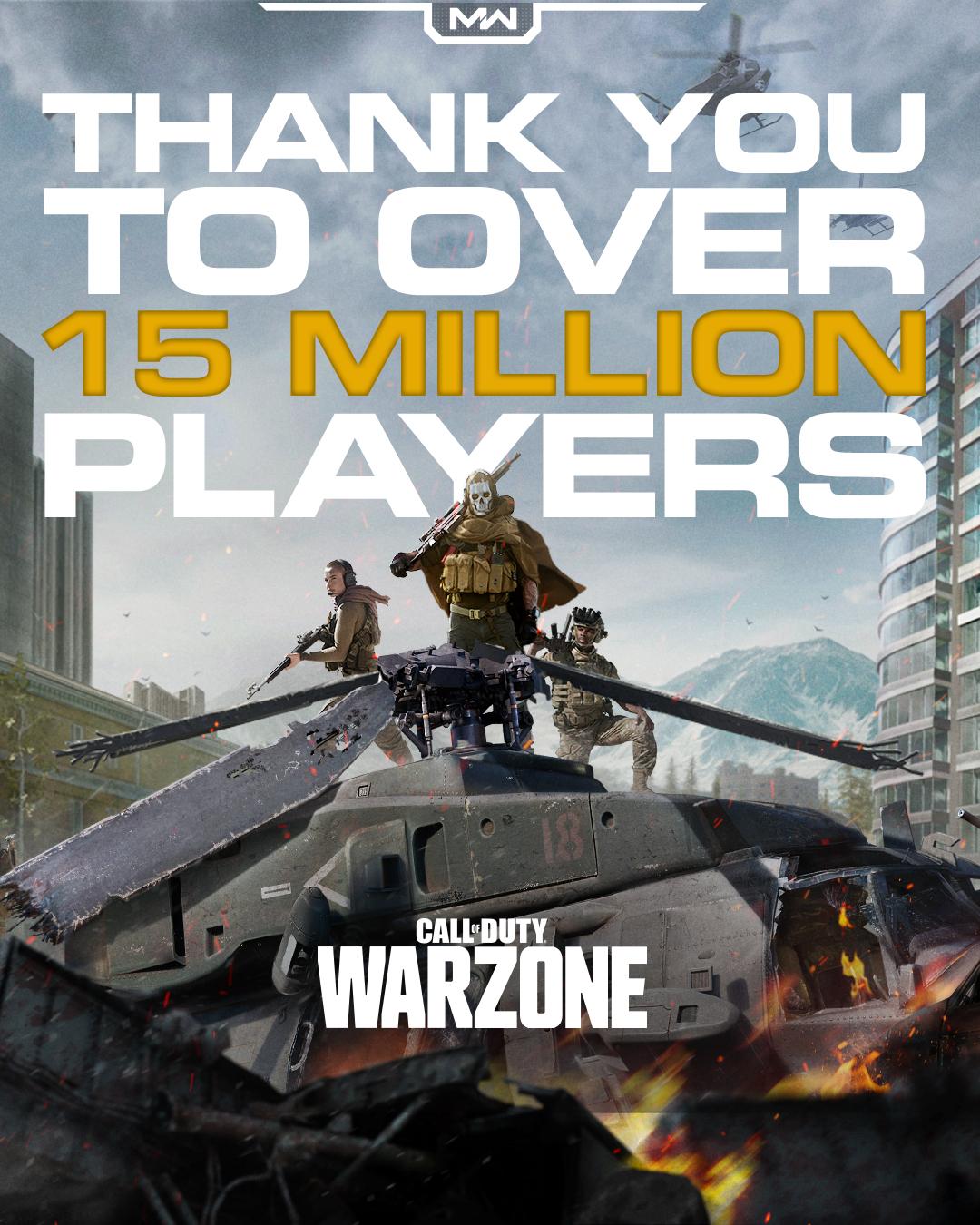 Call of Duty: Warzone только что превзошла 15 миллионов игроков по всему миру