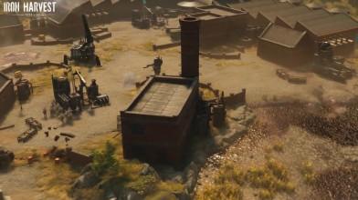 Iron Harvest - в коротком ролике демонстрируется деревня, фабрики и роботы