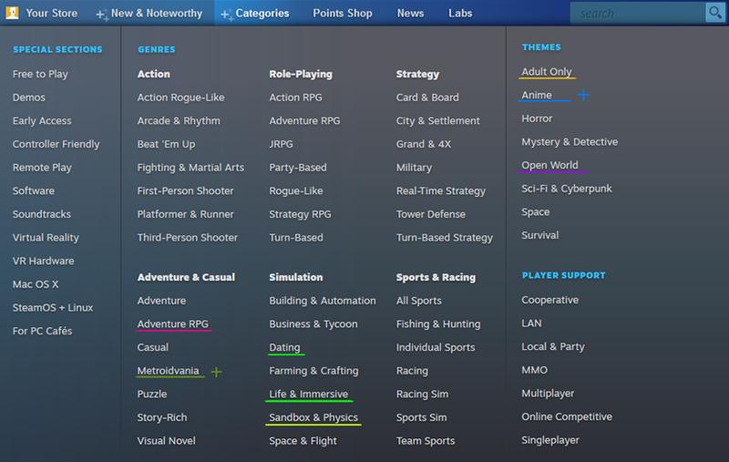 """Valve убрала из Steam раздел с ЛГБТ-играми и добавила категорию """"Аниме"""""""