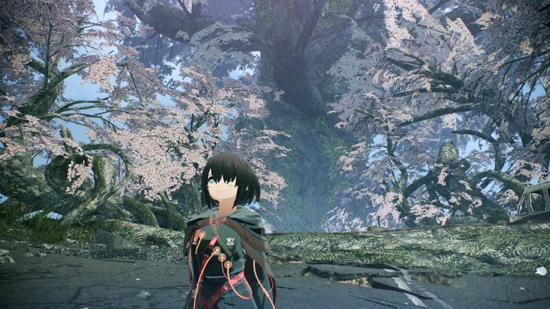 Цветы сакуры на новых скриншотах Scarlet Nexus