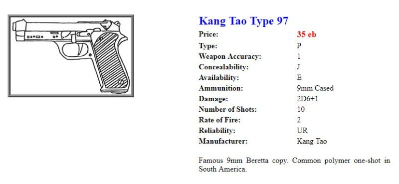 Kang Tao Type 97 из оригинальной настолки, который, очевидно, скопирован с пистолета Beretta 92