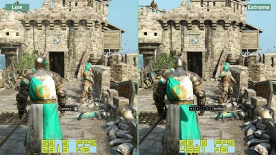 For Honor - PC Low vs. Extreme Graphics Comparison