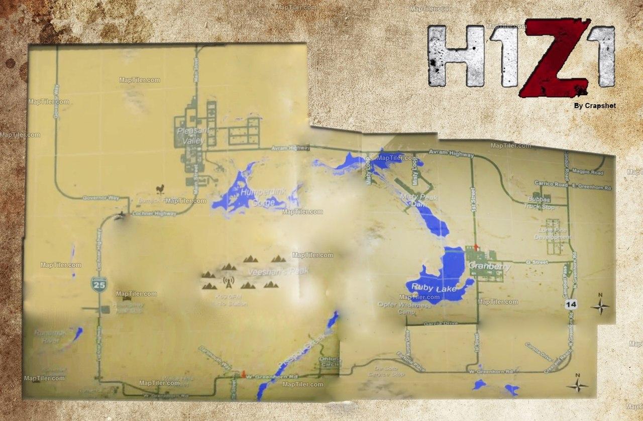 Карта игрового мира H1Z1 - Блоги - блоги геймеров, игровые блоги ...