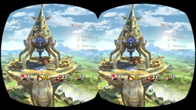 Геймплей Super Smash Bros. Ultimate на Nintendo Labo: VR Kit