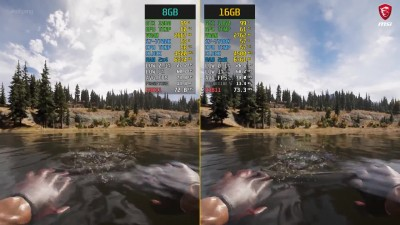 Сравнение - Far Cry 5 8GB RAM vs. 16GB RAM