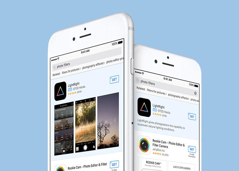 Вмагазине App Store возникла официальная реклама