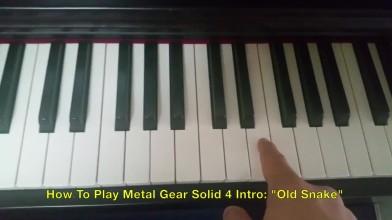 Видео , о том как играть главную тему из MGS 4.