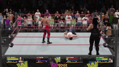 "WWE 2K16 ""Handicap (1 VS 3) HBK vs The Shield"""