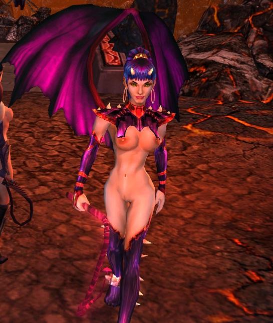 Голая демонесса, nude-патч для King's Bounty: Dark Side