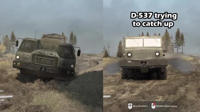Spintires: MudRunner - E-7310 vs D-537