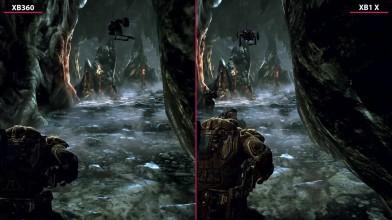 Gears of War 2 - Xbox 360 vs. Xbox One X Сравнение графики