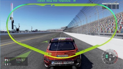 "Project CARS 2 ""Демонстрация работы технологии Live Track 3.0 - Night to Day to Night Temperature Debug Rendering"""