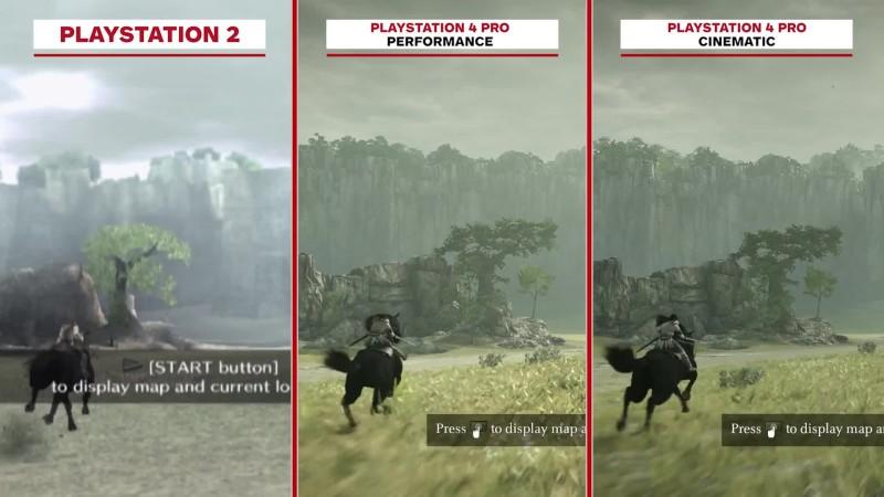 Shadow of the Colossus - Сравнение графики: PS2 vs. PS4 Pro
