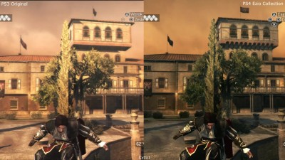 Сравнение графики Assassin's Creed Brotherhood The Ezio Collection PS4 vs PS3